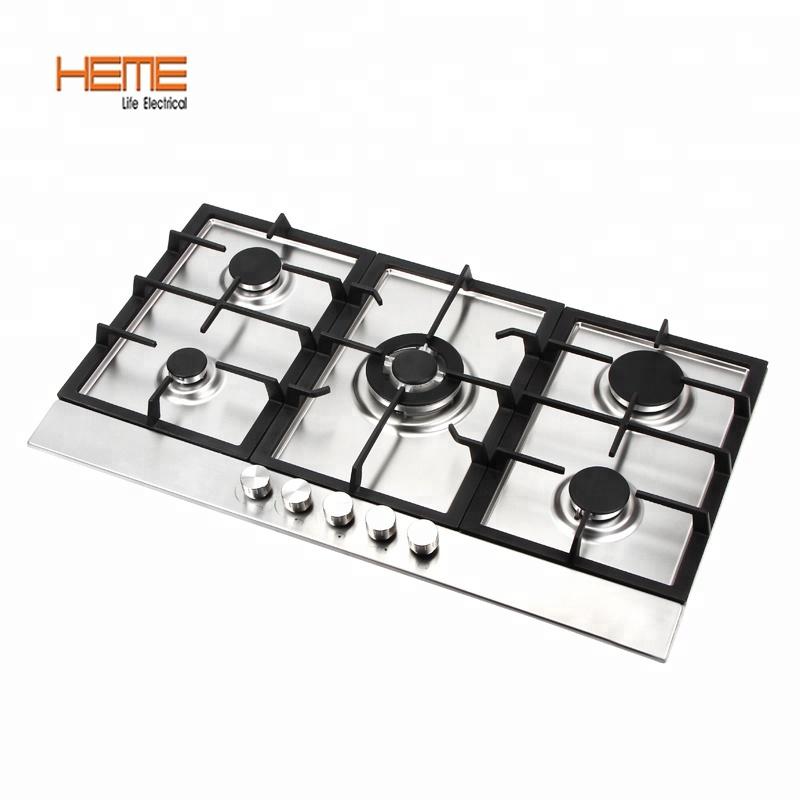 europ ische kochfelder elektro ignition edelstahl 5 brenner mit ffd 90 cm gasherd cooktop. Black Bedroom Furniture Sets. Home Design Ideas