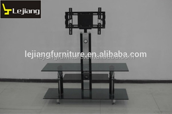 furniture aluminum tube with tempered glass corner tv stand modern LBTV122