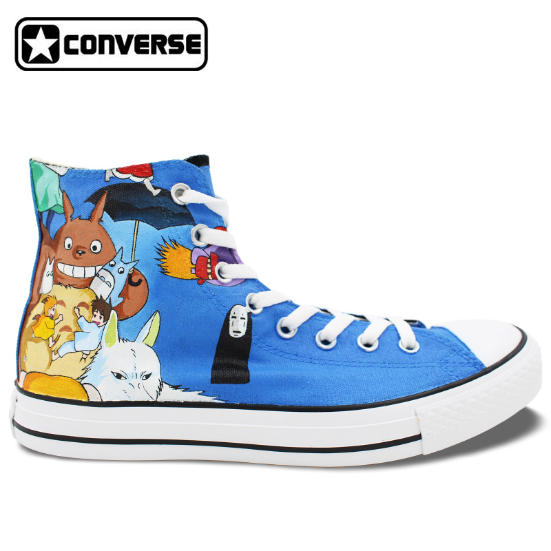 Anime Converse All Star Women Men Shoes Miyazaki Hayao ...