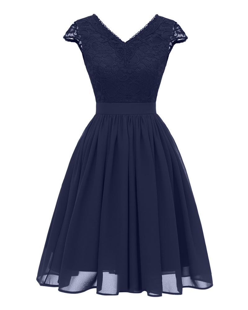 Vestido De Formatura Curto Azul De Atacado Compre Os