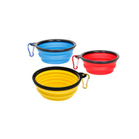Collapsible Dog Bowl, Foldable Expandable Cup Dish for Pet Cat Food Water Feeding Portable Travel dog Bowl