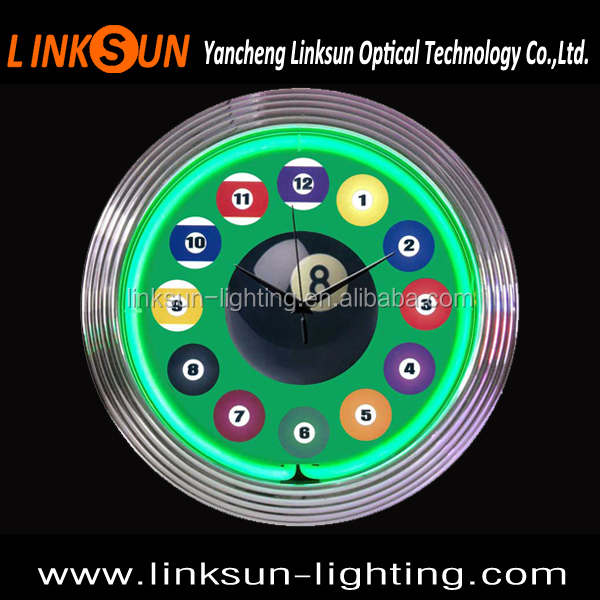 15 inch Single neon glass tube neon clock