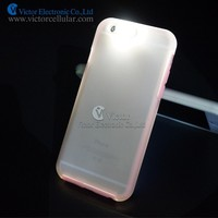 New arrival! light up phone case for iphone 6 case call flash LED light TPU+PC case for iphone6