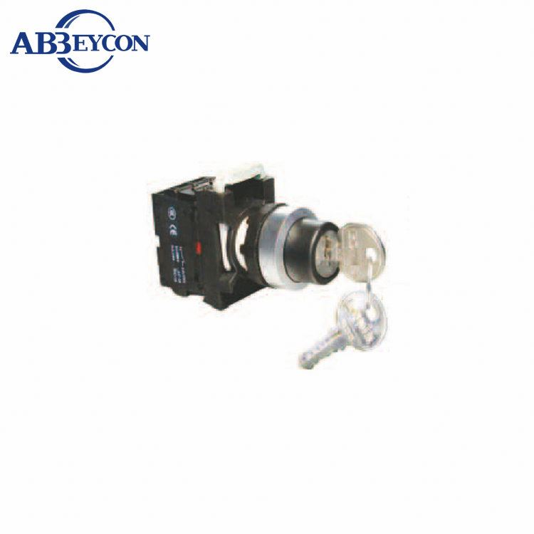 BB136 Signal Chain Momentary contact block key switch /maintained IP40/IP65 push botton with key