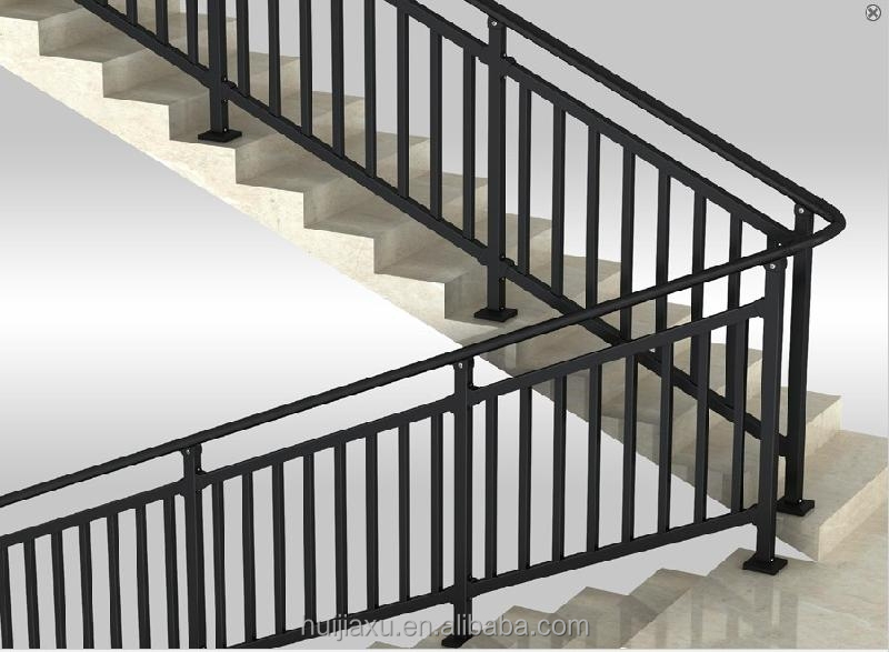 Perfiles de aluminio para barandilla interna escaleras residencial interior barandas met licas - Barandas para escaleras de interior ...