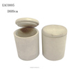 White cement candle holders wih lid for wedding centerpieces
