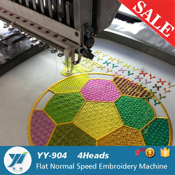 4heas Flat Embroidery And Cap Tubular T Shirt Computer Embroidery