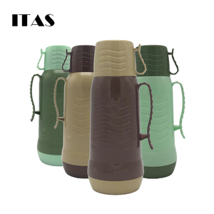 ITAS bestseller 2018 brown color vacuum flask glass thermos made in china hot selling indian