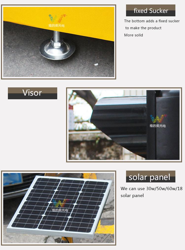 10 anni di Fabbrica di Alta Qualità Trolley Portatile di Telecomando HA CONDOTTO LA Luce Del Segnale Stradale Solare