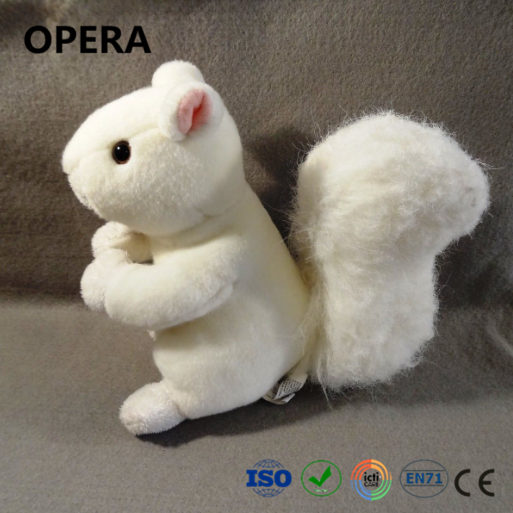 cute design small wholesale cheap stuffed animal plush white squirrel
