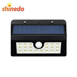 Garden Wall Residence Decorative Wall Mounted Waterproof Solar Light Parts With 20 Led
