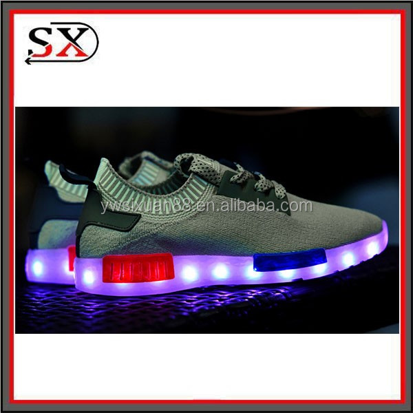 Fastest Shipping By DHL Colorful LED Luminous Unisex Sneakers USB Charging Sport LED Shoes Men 2016