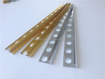 Alluminio angolo mattonelle di rivestimento per piastrelle di