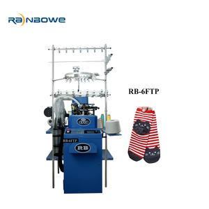 China hot sale RB-6FTP 3-D hosiery automatic socks knitting making machine with prices