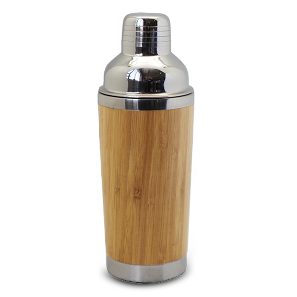 Real wood cocktail shaker, customize wood surface stainess steel mug
