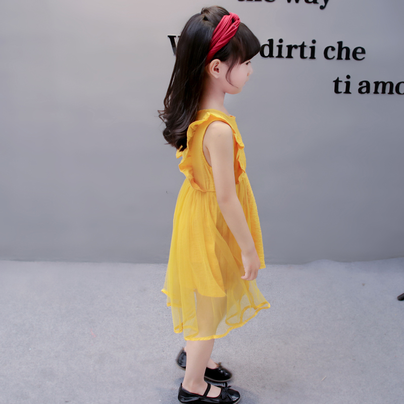 fashion cute sleeveless kids clothing party dresses children clothes kid girls summer princess dress designs