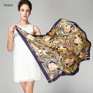 Custom Floral Photo Design Printed Silk Twill Scarf Women Scarf