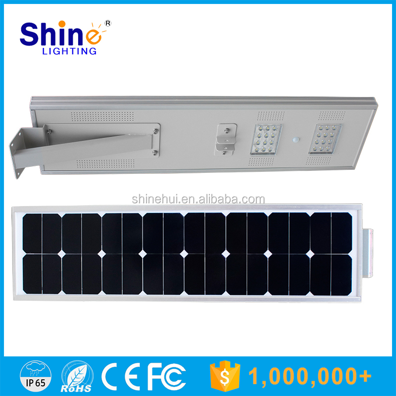 Shenzhen All in one Solar Street Light 25W Garden Solar Light with PIR Intelligence