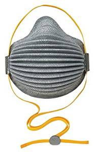 Moldex Medium - Large N95 AirWave Disposable Particulate Plus Nuisance Organic Vapor Respirator With With Soft Foam Full Flange And Adjustable And Hangable SmartStrap - Meets - 8 EA