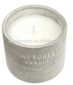 branded cemented cup scented candle with aroma oil cement jar candle