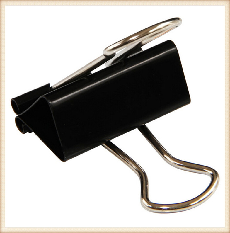Metal Binder Clips Paper Clip Office Stationery Binding Supplies