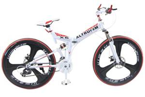 Hot Sales Altruism Xirui X6 Steel Mountain Bike 24 Speed 26 Inch Folding Bicycle White
