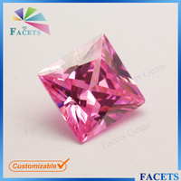 Facets Gems Wholesale Imitation Jewellery Stones Square CZ Gemstone for Earring