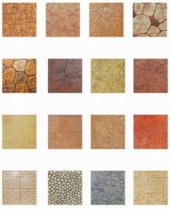 Polyurethane Stamp Concrete Cement Imprint Texture Stamp Silicone ...