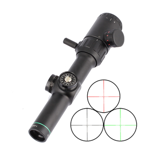 SPINA Rifle scope Green Red Illuminated 1-4x20 Range Finder Reticle Sight with 25.4mm Rail Mount
