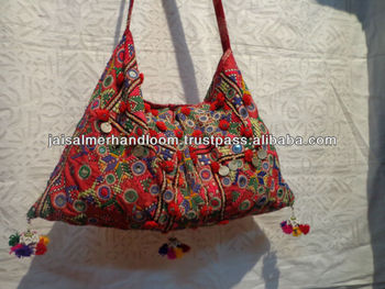 Cotton Tribal Ethnic Old Gypsy Antique Banjara Bags And Handbags