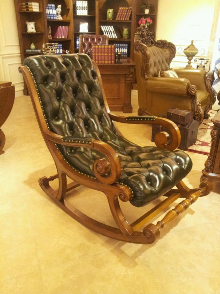 Merveilleux Antique Wooden And Leather Rocking Chair   Buy Antique Wooden And Leather Rocking  Chairs,Antique And Leather Rocking Chair,Antique And Leather Rocking Chair  ...