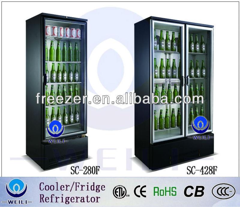 WEILI 228L mini bier kühlschrank bar kühler mit glastür für bar und ...