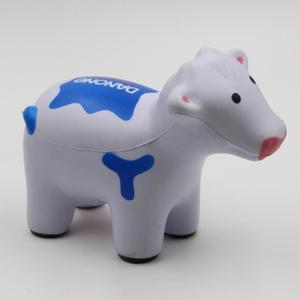Custom anti stress toy pu foam cow stress ball