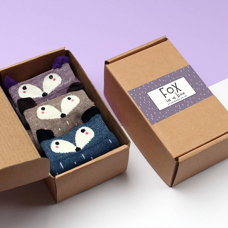 Custom wholesale paper box sock packaging box