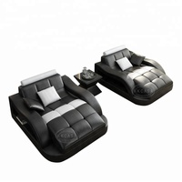Chinese Wholesale Contemporary sofa bed with tea table Features Design Leather Couch Sets Living Room Furniture
