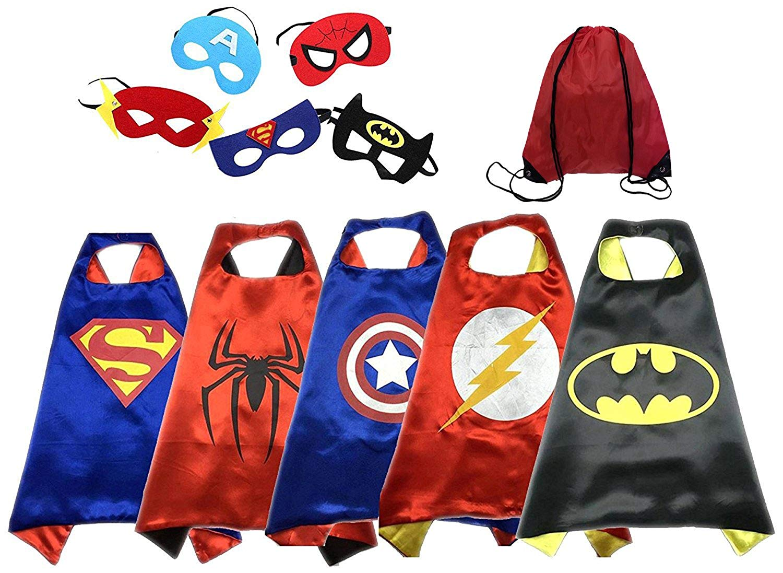 Get Quotations · Dress up Costumes Cartoon Cape and Mask (5 Set) 7ba13495f2e24