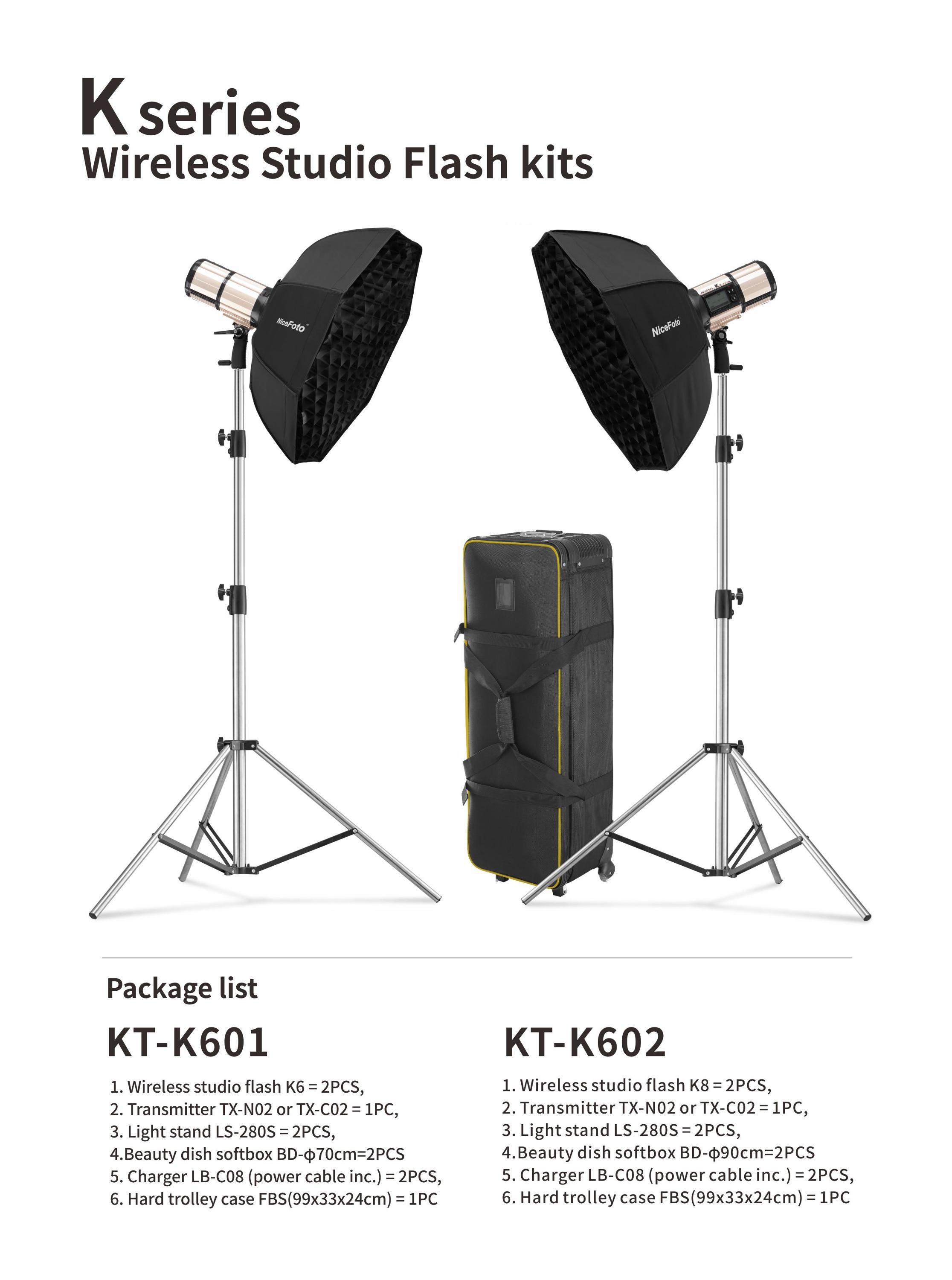 NiceFoto wireless TTL studio flash with battery for Camera light HSS1/8000S outdoor photo shooting photographic light
