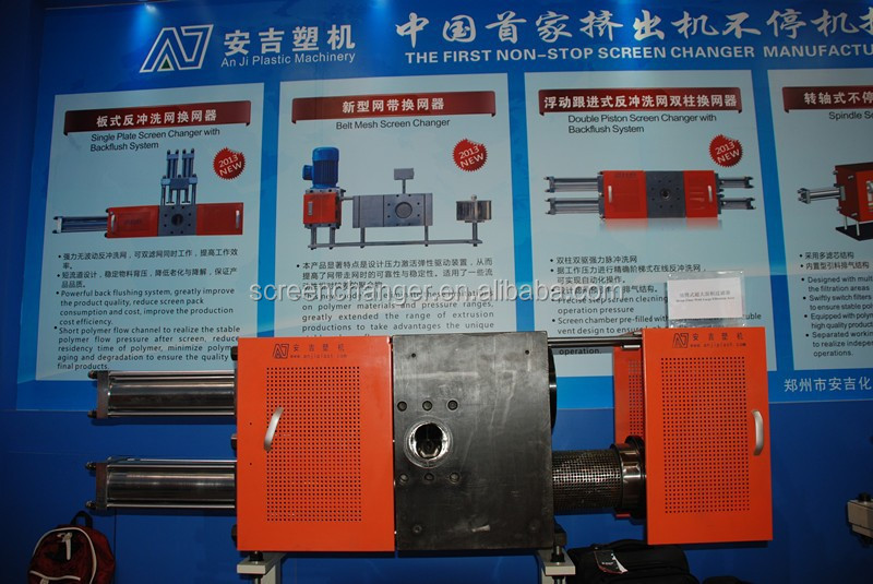 plastic machine continuous polymer melt filter and hydraulic power station used on plastic recycling production line