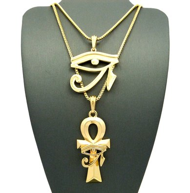 Gold Egyptian Eye Of Horus Ankh Pendant Necklace - Buy Eye Of Horus ... f337f2582f67