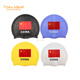 Durable Adult Silicone Ear Flag National Swim Caps