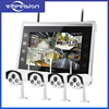 Vitevison IP cctv system wireless cctv camera system with 10.1inch LCD monitor and optional 1mp 1.3mp wifi cameras
