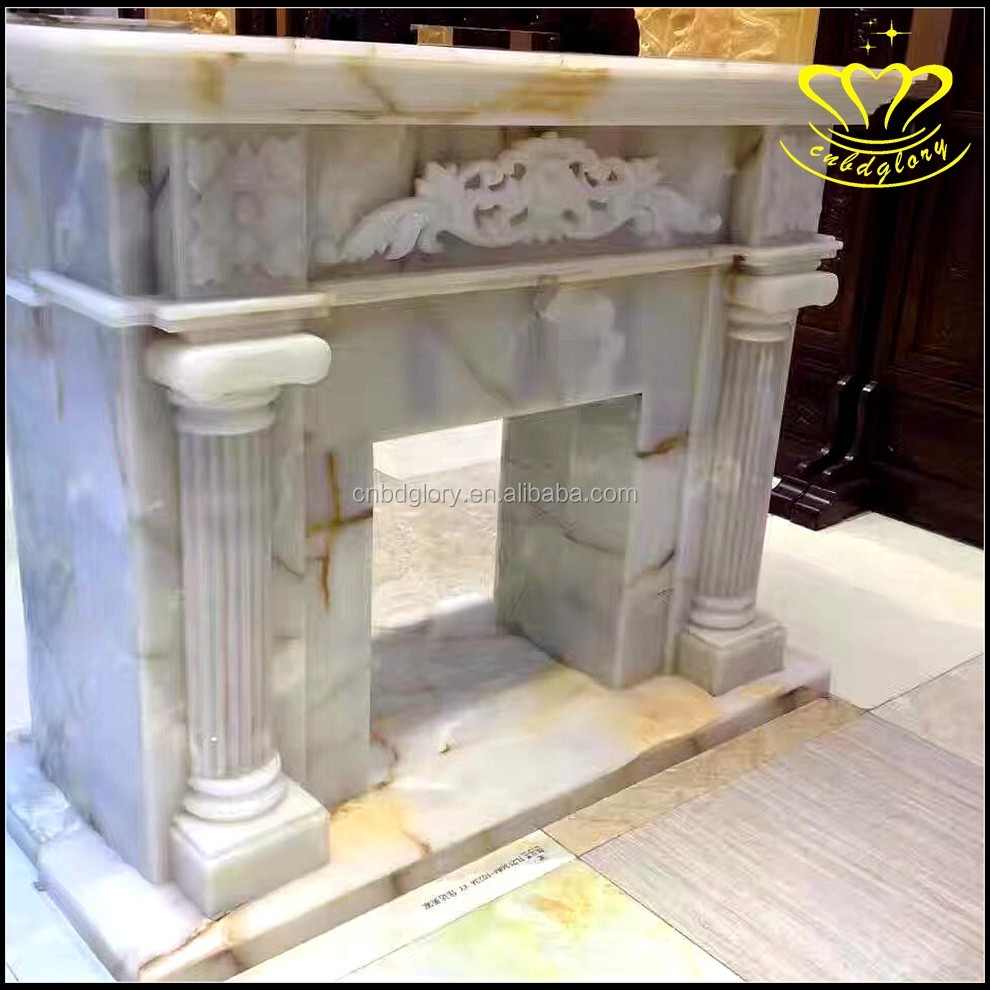 Simple And Elegant European - Style Villa Decorated Marble Fireplace Mantel Door Frame