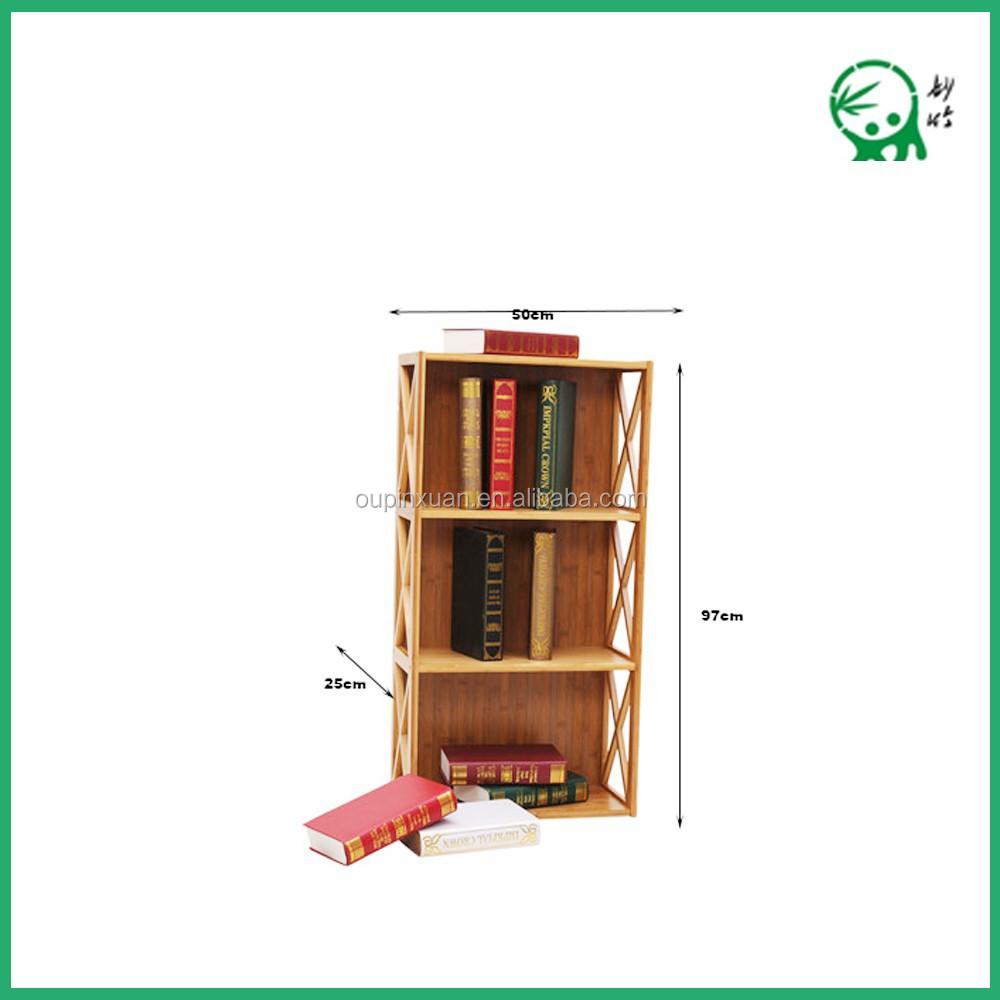 Ruang Tamu Desain Baru Mini Furniture Rak Buku 3 Lapis Bambu Buku  # Muebles Lapolar