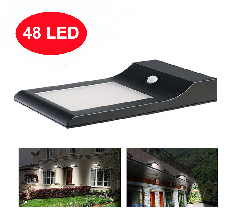 5W 48 Led Solar Wall Outdoor Light With Motion Sensor For