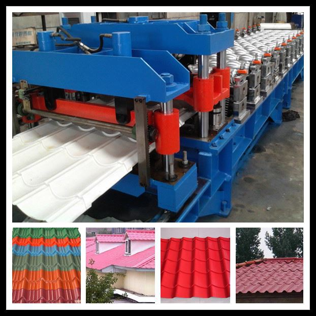 glazed tile making machine details, 980 glazed metal roof tile making machine