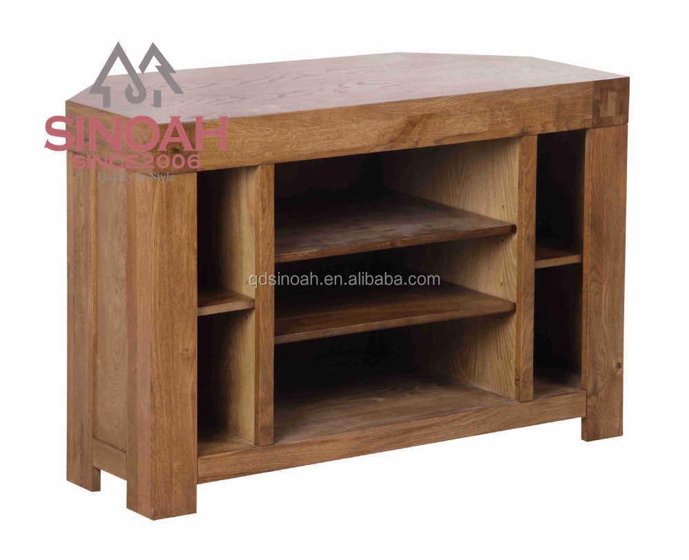 Oak Furniture Antique Living Room Wooden Corner TV Table