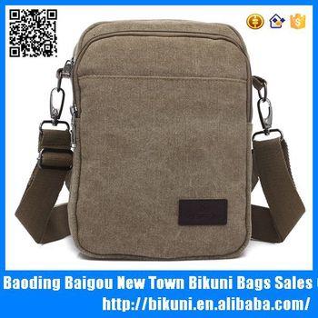 Wholesale Vintage Khaki Canvas Shoulder Bag Blank Messenger Bag ... 05466032cc12c