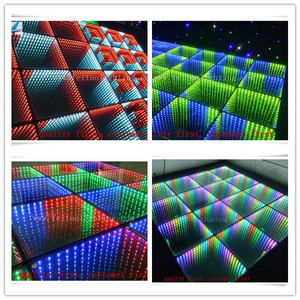 3D effect LED dancing floor rgb full color light up dance floor mat