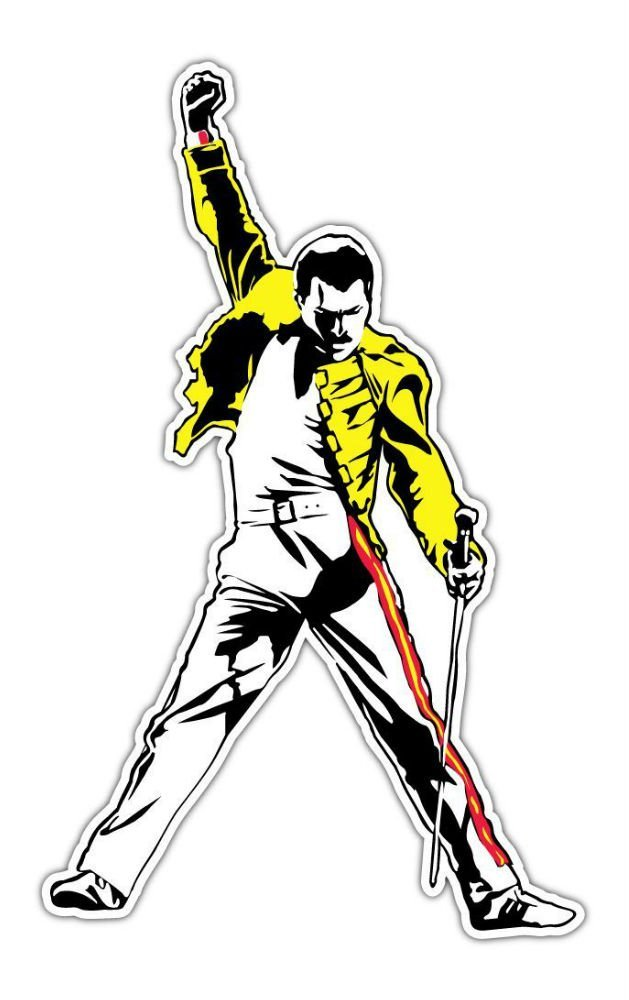 "Freddie Mercury Queen Rock Music Car Bumper Locker Window Sticker Decal 3""X5"""