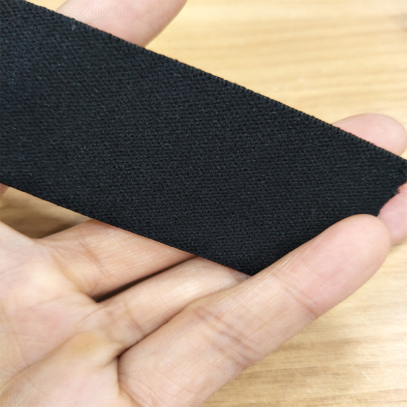 quality soft nylon 100mm wide 1 inch black elastic hair band